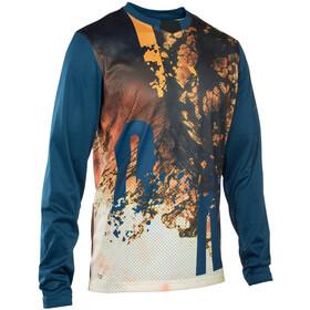 ION Scrub Koszulka rowerowa z długim rękawem Mężczyźni, ocean blue